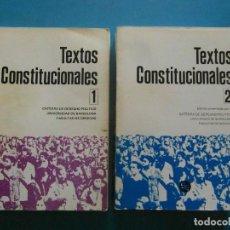 Libros de segunda mano: TEXTOS CONSTITUCIONALES. 2 VOLUMENES. EDITORIAL SIGNO. 1983. Lote 98706707