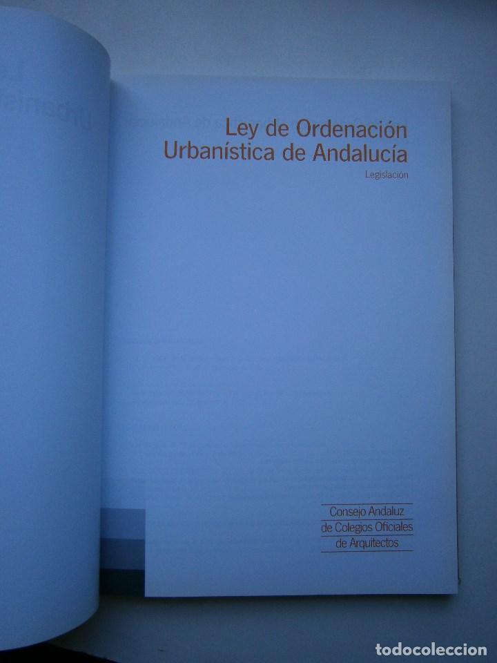 Libros de segunda mano: LEY DE ORDENACION URBANISTICA DE ANDALUCIA LEGISLACION 1 EDICION 2003 - Foto 5 - 98893719