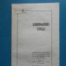 Libros de segunda mano - Gobernadores Civiles. Ministerio de la Gobernacion 10/10/1958. Madrid. Boletin Oficial de Estado - 98945939