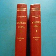 Libros de segunda mano: DERECHO PENAL. PARTE GENERAL. 2 VOL. EUGENIO CUELLO CALON. EDITORIAL BOSCH. Lote 99094347
