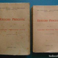 Libros de segunda mano: DERECHO PROCESAL CIVIL Y PROCESAL. 2 VOL. ENRIQUE GOMEZ ORBANEJA. MADRID 1951. Lote 99107583