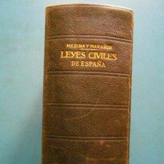 Libros de segunda mano - Leyes Civiles de España. Leon Medina y Manuel Marañon. Instituto Editorial Reus. 1949 - 99153055