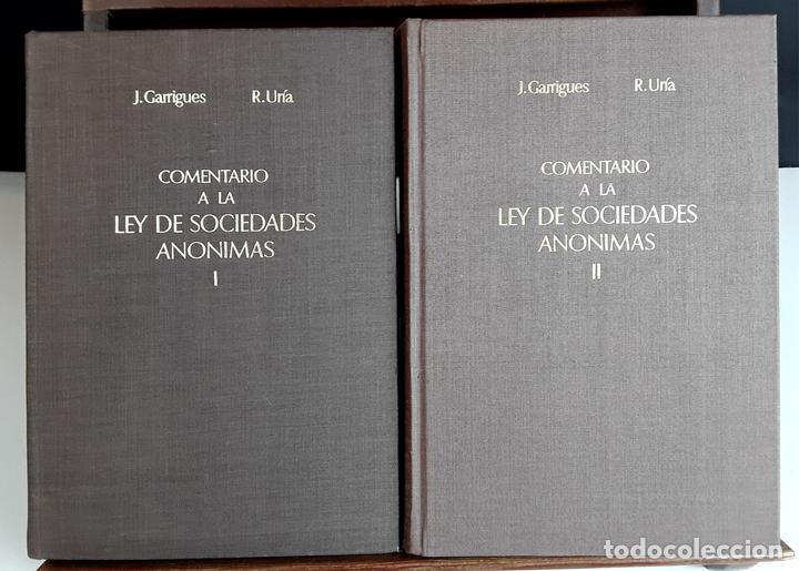 COMENTARIO A LA LEY DE SOCIEDADES ANÓNIMAS. 2 TOMOS. IMPRENTA AGUIRRE. 1976. (Libros de Segunda Mano - Ciencias, Manuales y Oficios - Derecho, Economía y Comercio)