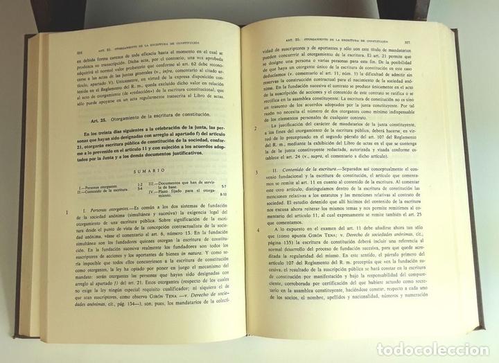 Libros de segunda mano: COMENTARIO A LA LEY DE SOCIEDADES ANÓNIMAS. 2 TOMOS. IMPRENTA AGUIRRE. 1976. - Foto 3 - 99346963