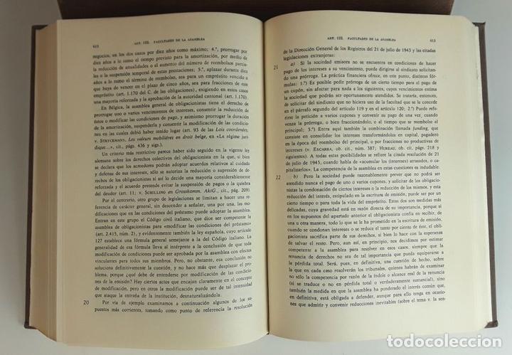 Libros de segunda mano: COMENTARIO A LA LEY DE SOCIEDADES ANÓNIMAS. 2 TOMOS. IMPRENTA AGUIRRE. 1976. - Foto 5 - 99346963