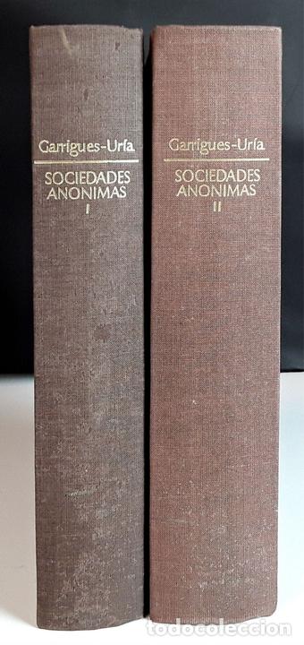 Libros de segunda mano: COMENTARIO A LA LEY DE SOCIEDADES ANÓNIMAS. 2 TOMOS. IMPRENTA AGUIRRE. 1976. - Foto 6 - 99346963