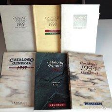 Libros de segunda mano: CATÁLOGO GENERAL, DERECHO EMPRESA. 6 EJEMPLARES. EDITORIAL ARANZADI. 1989/1994.. Lote 99348643