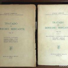 Libros de segunda mano: TRATADO DE DERECHO MERCANTIL. 2 TOMOS. REVISTA DE DERECHO MERCANTIL. 1955/1963.. Lote 99351835