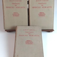 Libros de segunda mano: TRATADO DE DERECHO MERCANTIL. 3 VOLÚMENES. REVISTA DE DERECHO MERCANTIL. 1947 /1949.. Lote 99418515