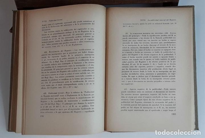 Libros de segunda mano: TRATADO DE DERECHO MERCANTIL. 3 VOLÚMENES. REVISTA DE DERECHO MERCANTIL. 1947 /1949. - Foto 7 - 99418515