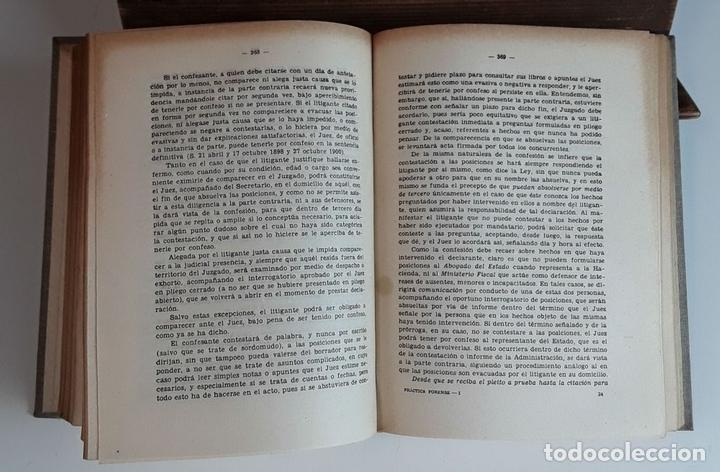 Libros de segunda mano: PRÁCTICA FORENSE. 3 TOMOS. MAURO MIGUEL Y ROMERO. LIB. GENERAL DE V. SUÁREZ. 1947. - Foto 4 - 99423855