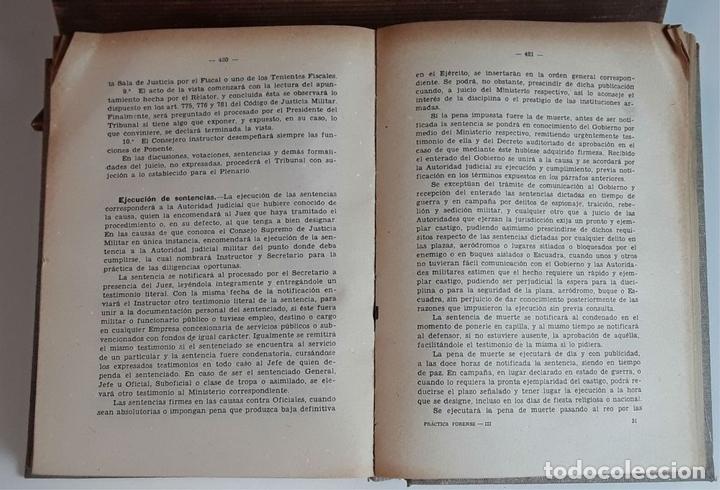 Libros de segunda mano: PRÁCTICA FORENSE. 3 TOMOS. MAURO MIGUEL Y ROMERO. LIB. GENERAL DE V. SUÁREZ. 1947. - Foto 8 - 99423855