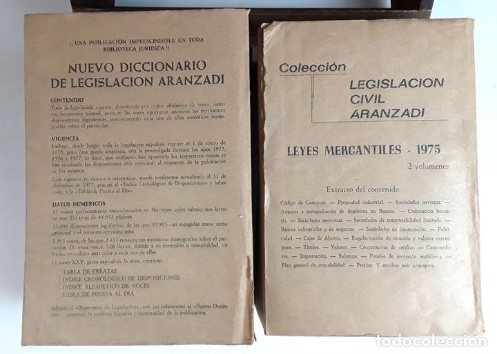 Libros de segunda mano: APÉNDICES AL ÍNDICE PROGRESIVO DE LEGISLACIÓN. 2 TOMOS. EDIT. ARANZADI. 1975/1980. - Foto 10 - 99941083