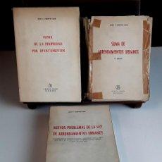 Libros de segunda mano: LIBRERÍA BOSCH. 3 VOLÚMENES. JUAN V. FUENTES LOJO. 1960/1964.. Lote 99943923