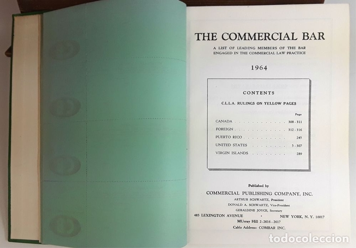 Libros de segunda mano: THE COMMERCIAL BAR. 2 VOLÚMENES. PUBLISHED C. PUBLISHING COMPANY, INC. 1963/64. - Foto 6 - 99946067