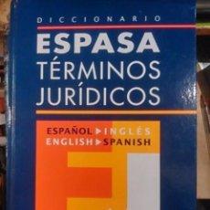 Libros de segunda mano: DICCIONARIO ESPASA. TÉRMINOS JURÍDICOS (MADRID, 2006) CONTIENE CD.. Lote 99987811