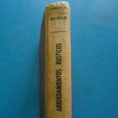 Libros de segunda mano: ARRENDAMIENTOS RUSTICOS. INDICES COMPLETOS. EDITORIAL ARANZADI. 1959. Lote 100096627