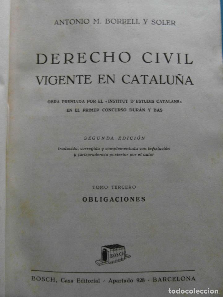 Libros de segunda mano: Derecho Civil vigente en Cataluña. Antonio M. Borrell y Soler. 5 Tomos. 2ª Edicion 1944 - Foto 4 - 100154735