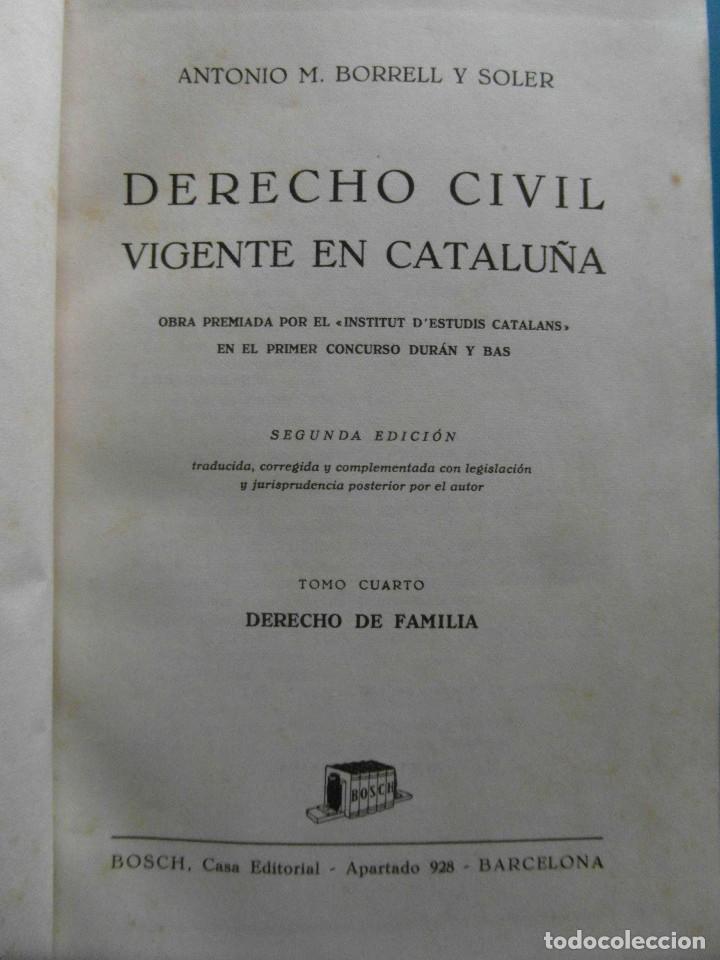 Libros de segunda mano: Derecho Civil vigente en Cataluña. Antonio M. Borrell y Soler. 5 Tomos. 2ª Edicion 1944 - Foto 5 - 100154735