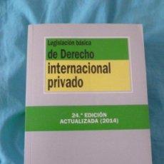 Libros de segunda mano: LEGISLACION BASICA DE DERECHO INTERNACIONAL PRIVADO. TECNOS. 2014 1621. Lote 100177627
