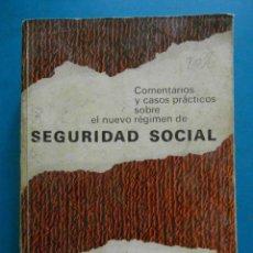 Libros de segunda mano: COMENTARIOS Y CASOS PRACTICOS SOBRE NUEVO REGIMEN DE SEGURIDAD SOCIAL. EDICIONES DEUSTO 1968. Lote 100283051