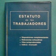 Libros de segunda mano: ESTATUTO DE LOS TRABAJADORES. COLECCION LEX - ARANZADI. 1980. Lote 100327659