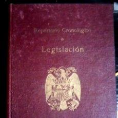 Libros de segunda mano: REPERTORIO CRONOLOGICO DE LEGISLACION. ARANZADI. 1944. EDICION ESPECIAL. EDITORIAL ARANZADI. Lote 101569903