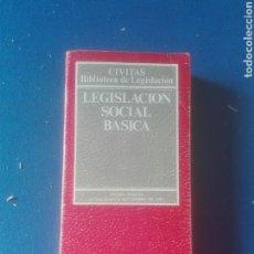 Libros de segunda mano: LEGISLACIÓN SOCIAL BÁSICA EDITORIAL CIVITAS. Lote 102769902
