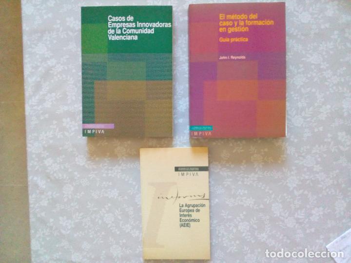CONJUNTO DE 3 LIBROS DEL IMPIVA- COMUNIDAD VALENCIANA. (Libros de Segunda Mano - Ciencias, Manuales y Oficios - Derecho, Economía y Comercio)