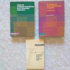 Libros de segunda mano: CONJUNTO DE 3 LIBROS DEL IMPIVA- COMUNIDAD VALENCIANA.. Lote 102841075