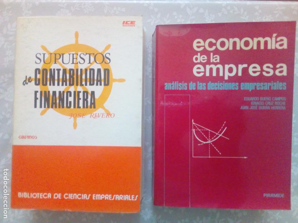 CONJUNTO DE DOS LIBROS - SUPUESTOS DE CONTABILIDAD FINANCIERA Y ECONOMIA DE LA EMPRESA (Libros de Segunda Mano - Ciencias, Manuales y Oficios - Derecho, Economía y Comercio)