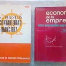Libros de segunda mano: CONJUNTO DE DOS LIBROS - SUPUESTOS DE CONTABILIDAD FINANCIERA Y ECONOMIA DE LA EMPRESA. Lote 102934139
