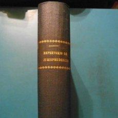 Libros de segunda mano: REPERTORIO DE JURISPRUDENCIA. ARANZADI. AÑO 1942. TOMO IX. 2 VOL. 1ª EDICION. PAMPLONA. Lote 102955427