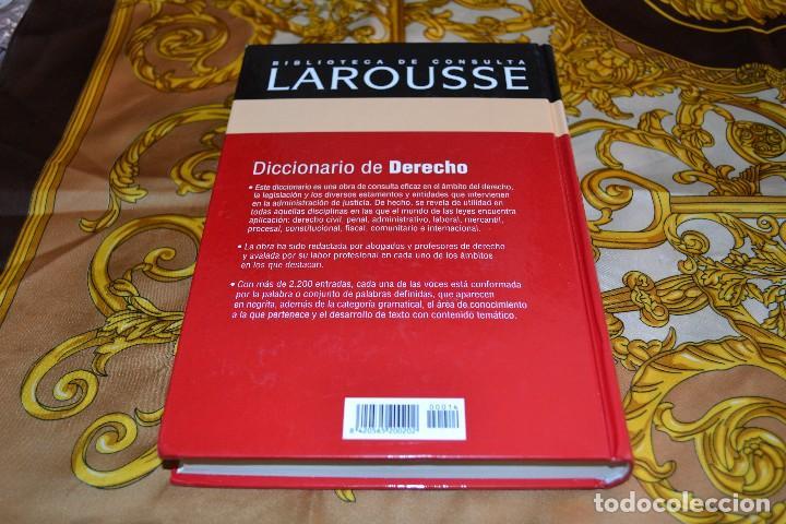 Libros de segunda mano: Biblioteca Larousse Diccionario de Derecho - Foto 2 - 103221479