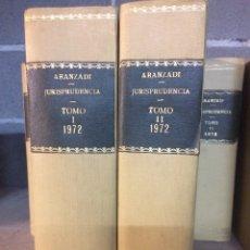 Libros de segunda mano: ARANZADI JURISPRUDENCIA 1972 TOMOS I. II PRIMERA EDICIÓN. Lote 103374462