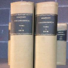 Libros de segunda mano: ARANZADI JURISPRUDENCIA 1976 TOMOS I. II PRIMERA EDICIÓN. Lote 103375366