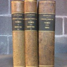 Libros de segunda mano: JURISPRUDENCIA ARANZADI DE 1930 A 1934. Lote 103379426