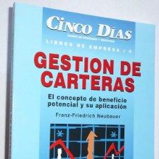 Libros de segunda mano - Gestión de carteras (Libros de Empresa 4) - Franz-Friedrich Neubauer (Cinco Días, McGraw-Hill) - 104144311