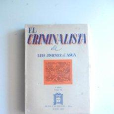 Libros de segunda mano: EL CRIMINALISTA DE LUIS JIMENEZ DE ASUA TOMO VI BUENOS AIRES EDITOR VICTOR DE ZAVALIA 1964.. Lote 104178567