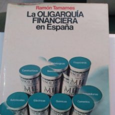 Libros de segunda mano: LA OLIGARQUÍA FINANCIERA EN ESPAÑA - RAMÓN TAMAMES . TAPAS DURAS. Lote 104747395