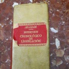 Libros de segunda mano: REPERTORIO CRONOLÓGICO DE LEGISLACIÓN 1960 ARANZADI. Lote 105623728