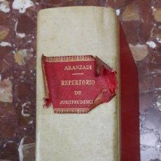 Libros de segunda mano: REPERTORIO DE JURISPRUDENCIA 1962 ARANZADI. Lote 105625150