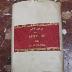 Libros de segunda mano: REPERTORIO DE JURISPRUDENCIA 1969 ARANZADI. Lote 105634240