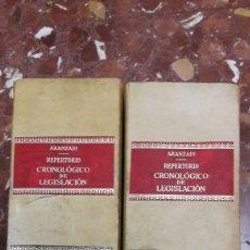 Libros de segunda mano: REPERTORIO CRONOLÓGICO DE LEGISLACIÓN ARANZADI 1977. Lote 105636007