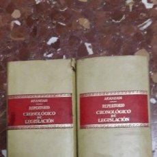 Libros de segunda mano: REPERTORIO CRONOLÓGICO DE LEGISLACIÓN ARANZADI 1979. Lote 105700330