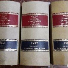 Libros de segunda mano: REPERTORIO CRONOLÓGICO DE LEGISLACIÓN COMPLETO 1982 ARANZADI. Lote 105700438
