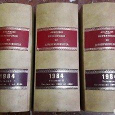 Libros de segunda mano: REPERTORIO DE JURISPRUDENCIA 1984 COMPLETO ARANZADI. Lote 105700839