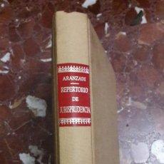Libros de segunda mano: REPERTORIO DE JURISPRUDENCIA 1985 ÍNDICES. Lote 105701076