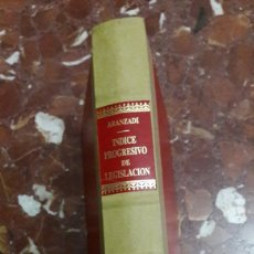 Libros de segunda mano: APÉNDICE AL ÍNDICE PROGRESIVO DE LEGISLACIÓN ARANZADI 1986. Lote 105701154