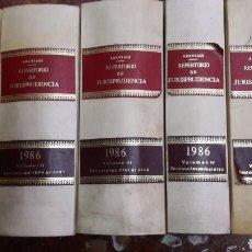 Libros de segunda mano: REPERTORIO DE JURISPRUDENCIA 1986 COMPLETO ARANZADI. Lote 105701166